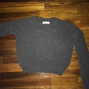 Abercrombie kids gray cropped sweater size xl